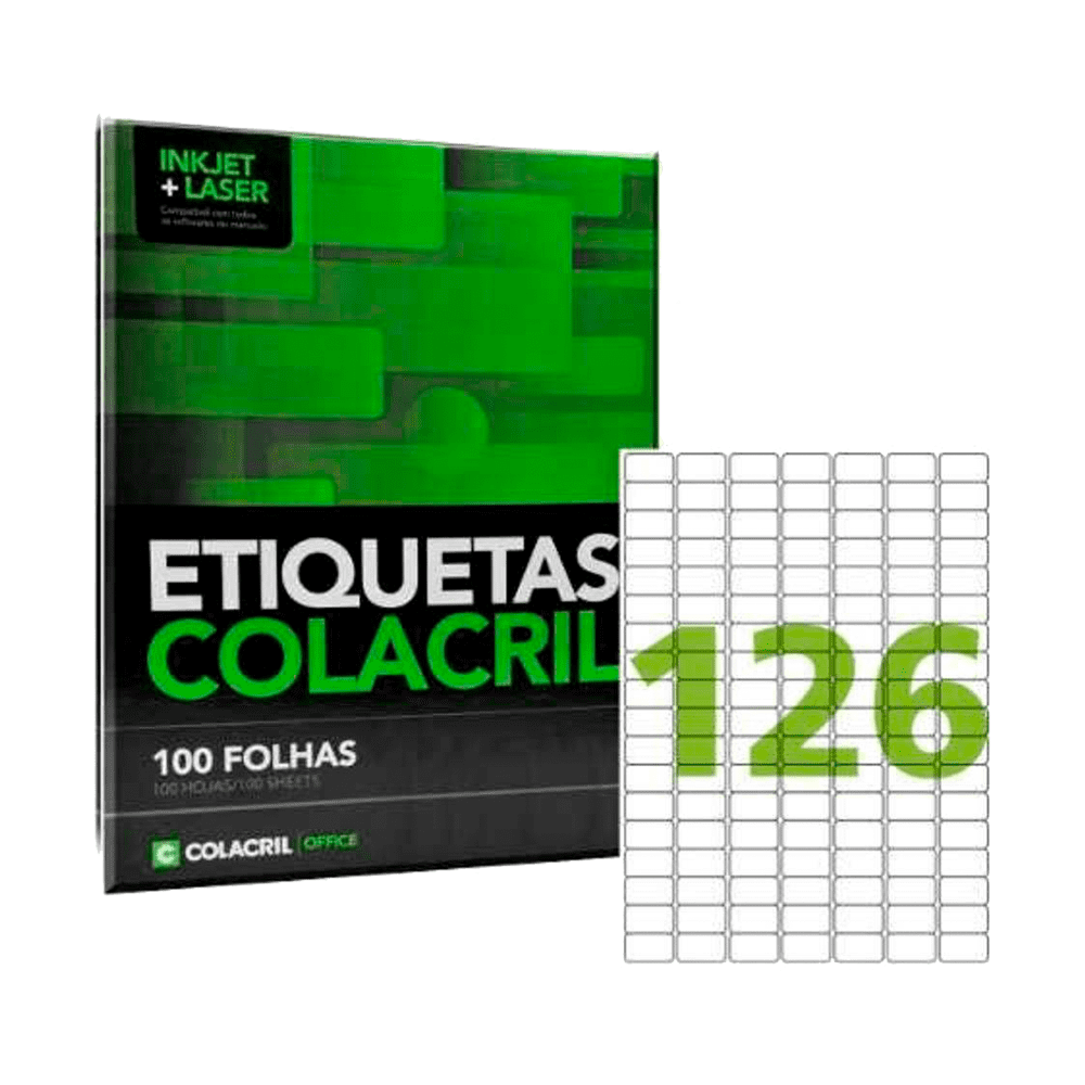 Etiqueta A4 15mm x 26mm 100 folhas CA4349 Colacril