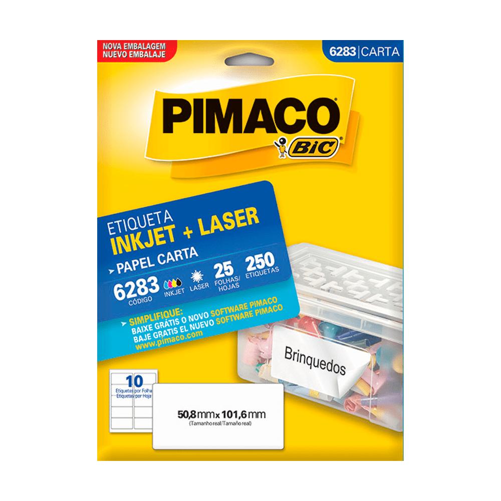 Etiqueta Carta 50,8mm x 101,6mm 25 Folhas 6283 Pimaco