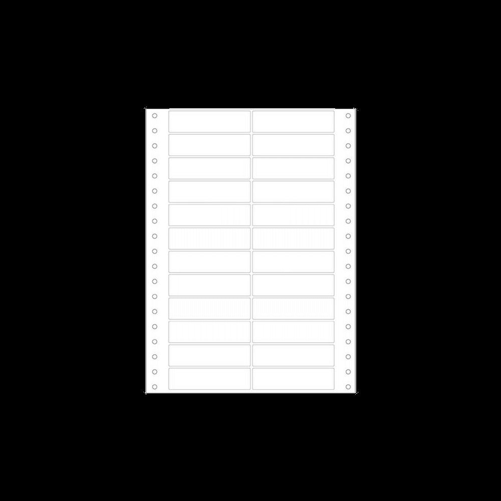 Etiqueta Contínua 89mm x 23,4mm 2 Colunas 500 Folhas 3019 Colacril