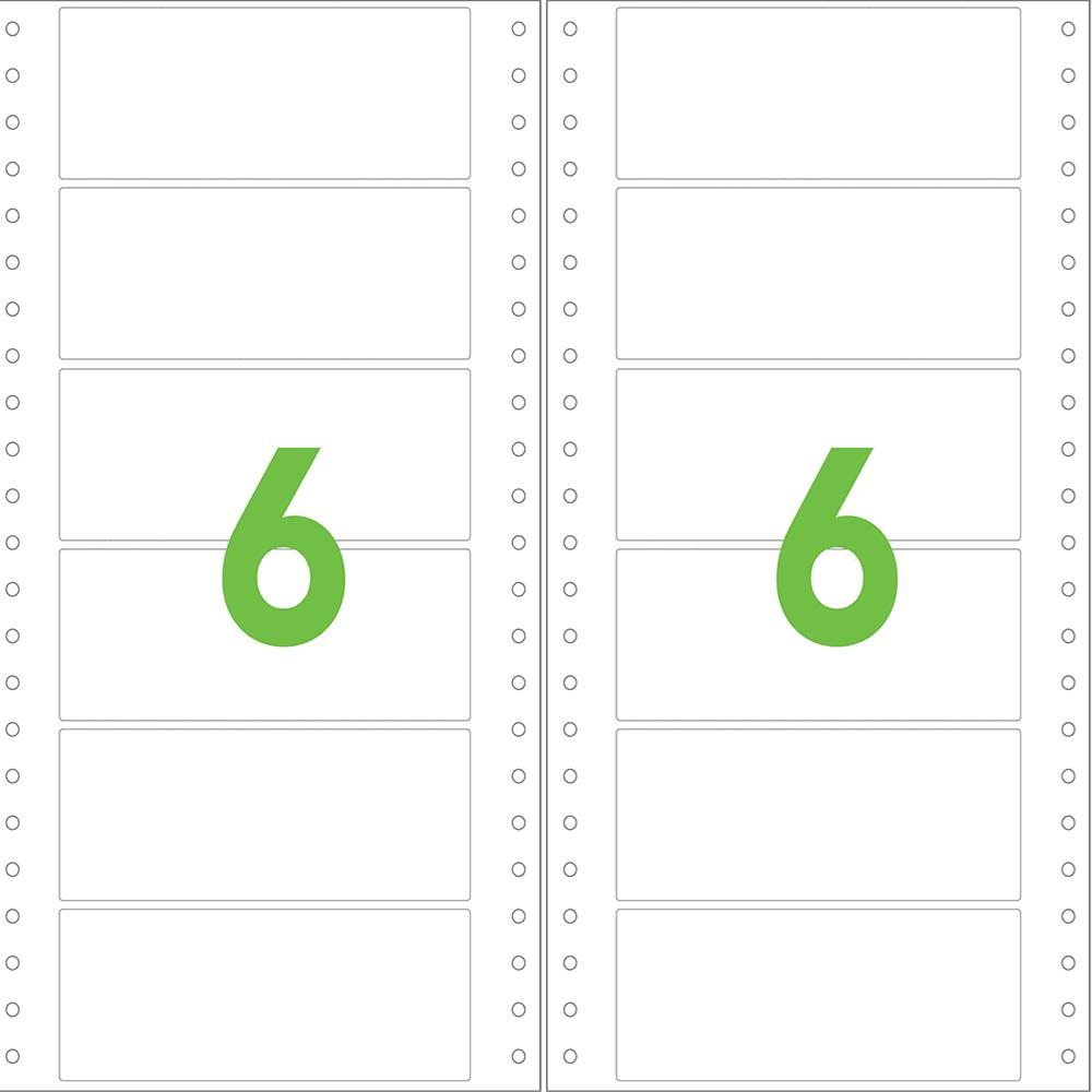 Etiqueta Contínua 89 x 23,4 mm 2 Colunas 500 Folhas 3019 Colacril