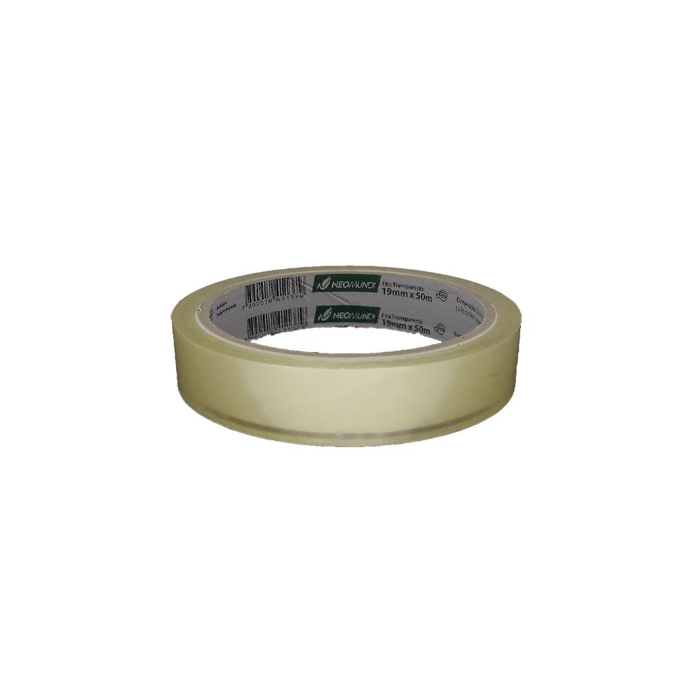 Fita Adesiva PP 19mm x 50m Transparente NeoMundi