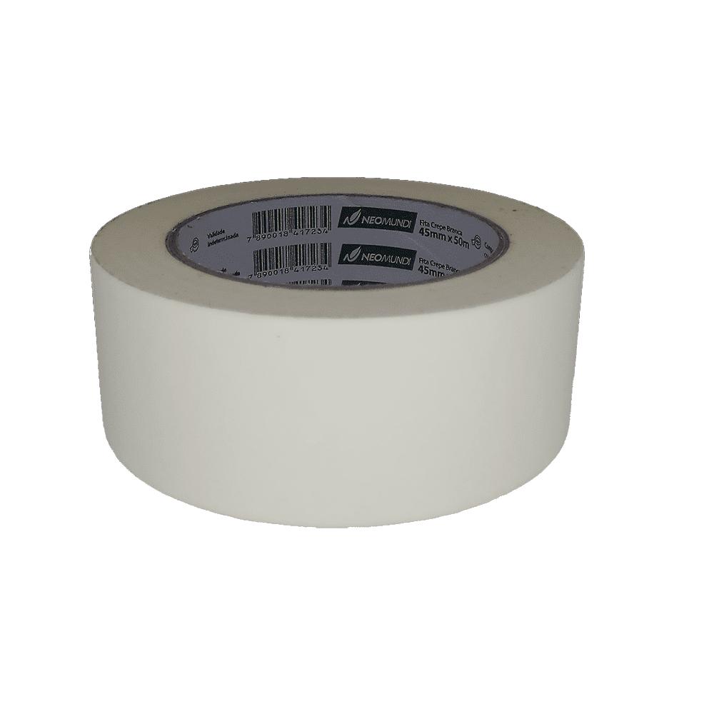 Fita Crepe 45mm x 50m Branca NeoMundi