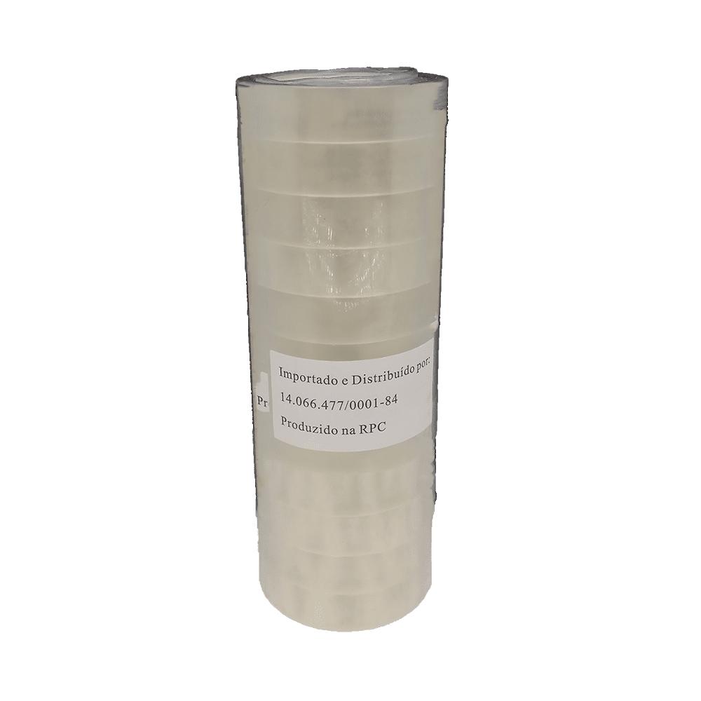 Fita Adesiva PP 12mm x 30m Transparente 12 Unidades NeoMundi