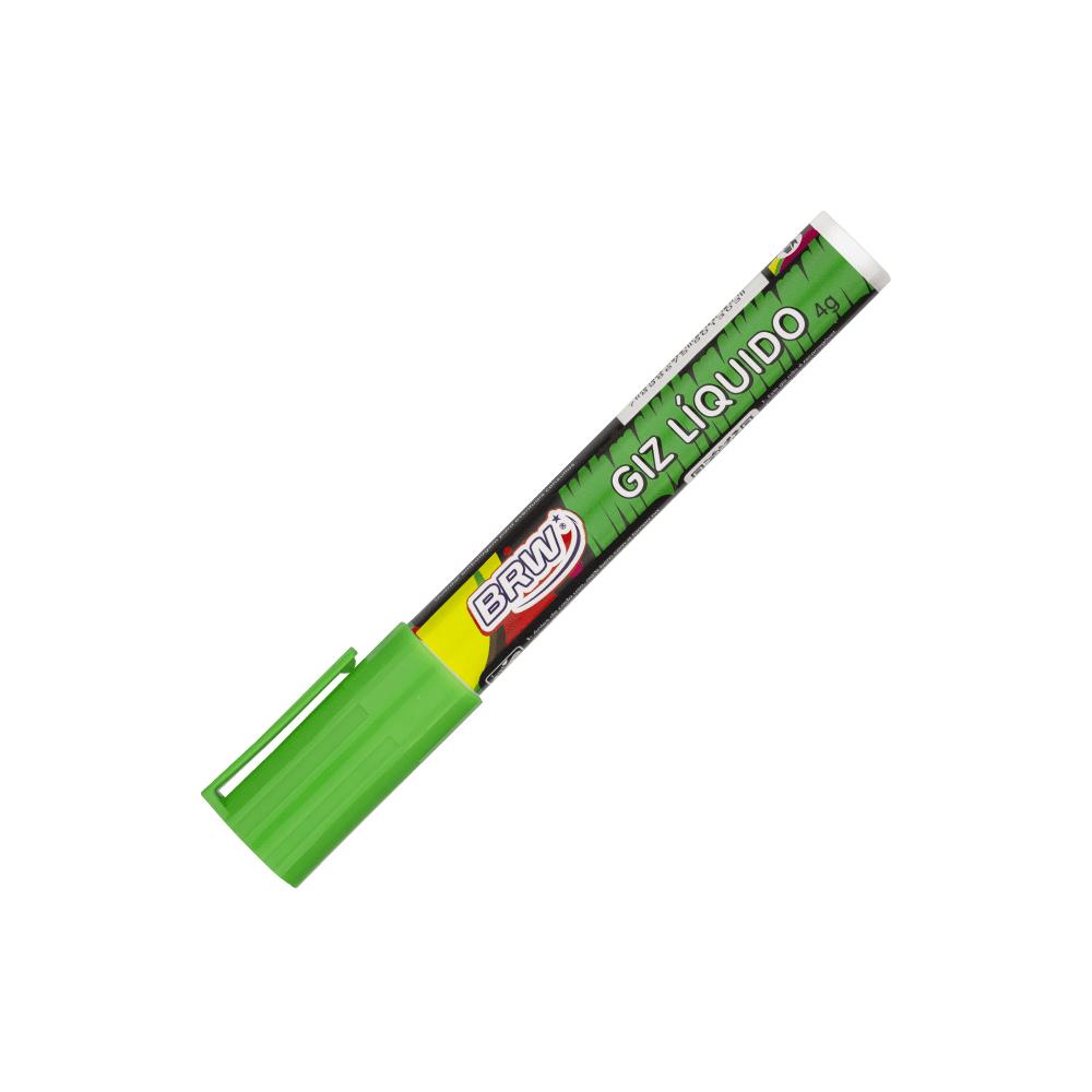 Giz Líquido Verde 4g 6mm 12 Unidades BRW