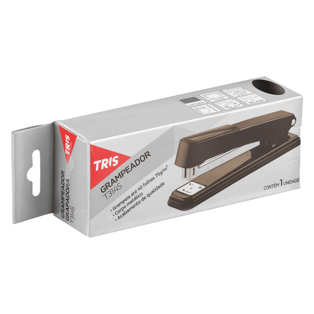 Grampeador 26/6 para 40 Folhas T314S Tris