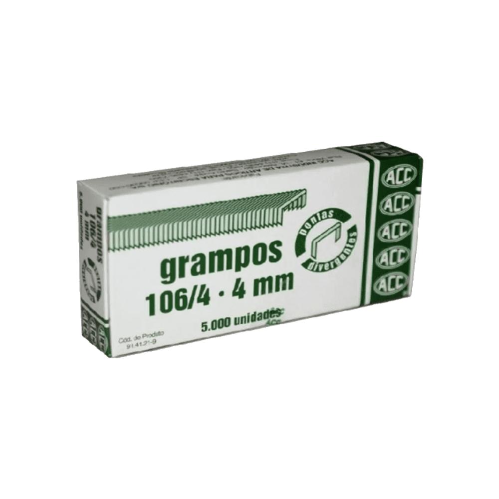 Grampo 106/4 Cobreado Extra 5000 Unidades ACC