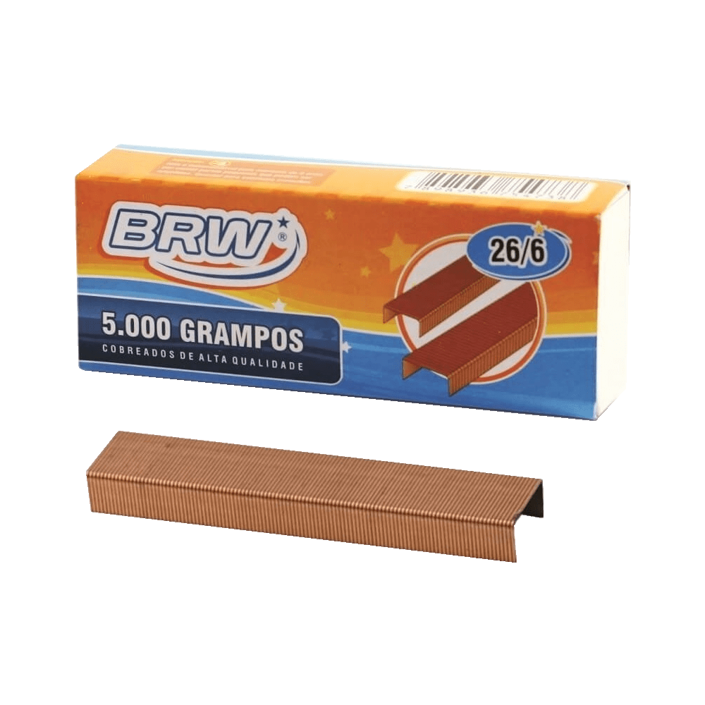 Grampo 26/6 Cobreado 5000 Unidades BRW