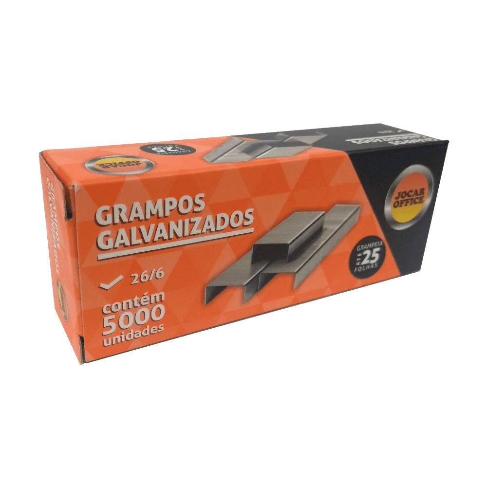 Grampo 26/6 Galvanizado 20 Caixas C/ 5000 Unidades Jocar Office