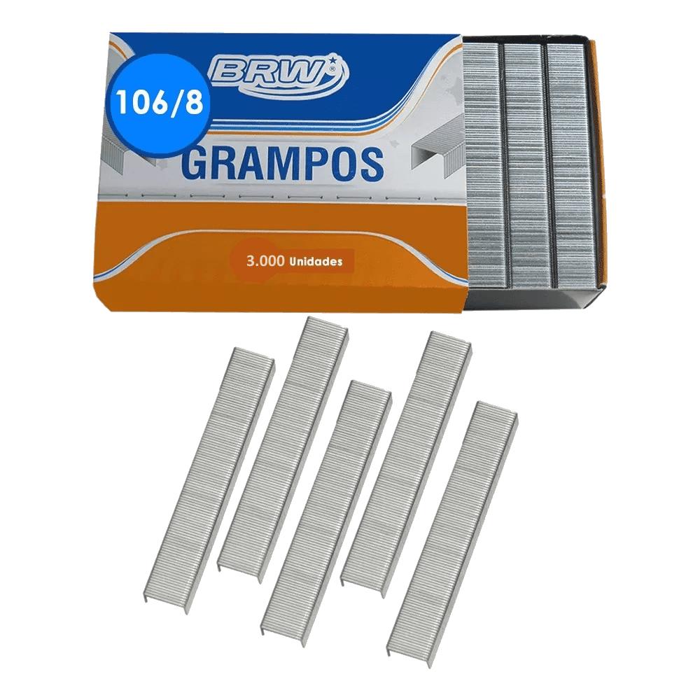 Grampo Galvanizado 106/8 3000 Unidades BRW