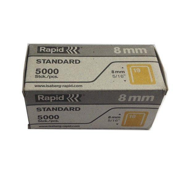 Grampo Galvanizado 19/8 Standard 5000 Unidades Rapid