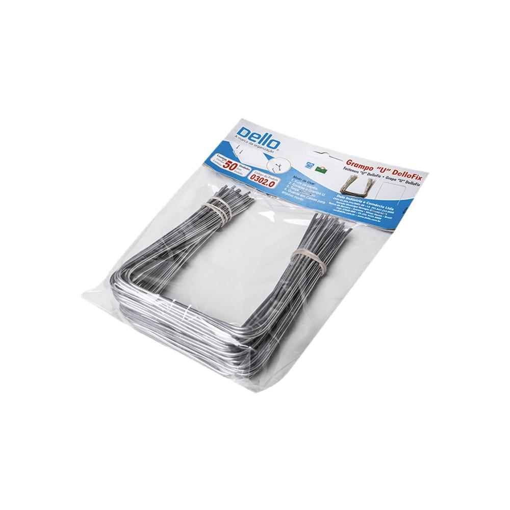 Grampo U de Alumínio 50 Unidades DelloFix