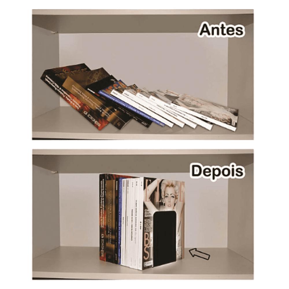 Bibliocanto Metal Preto 6 Pares Acrimet