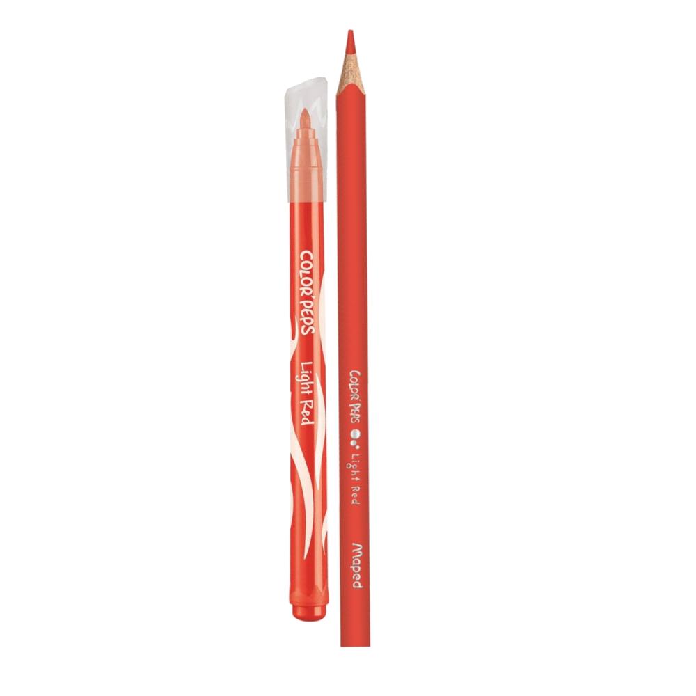 Kit Color'Peps com 15 Lápis de Cor e 12 Canetas Hidrocor Maped