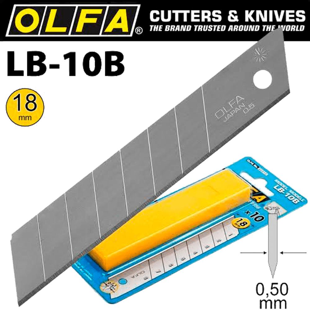 Lâmina para Estilete 18mm LB-10B 10 Unidades OLFA