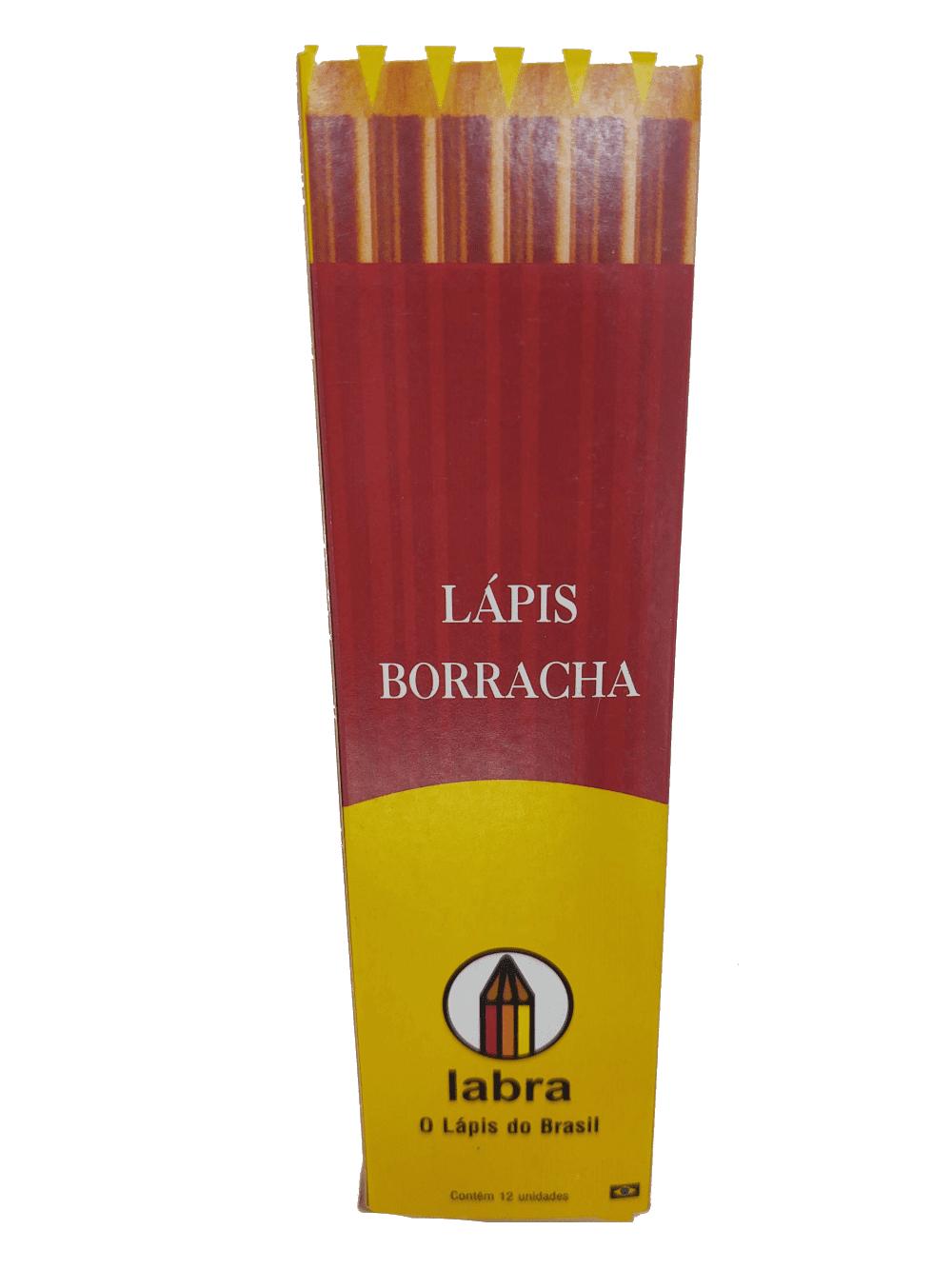 Lápis Borracha 12 Unidades Labra