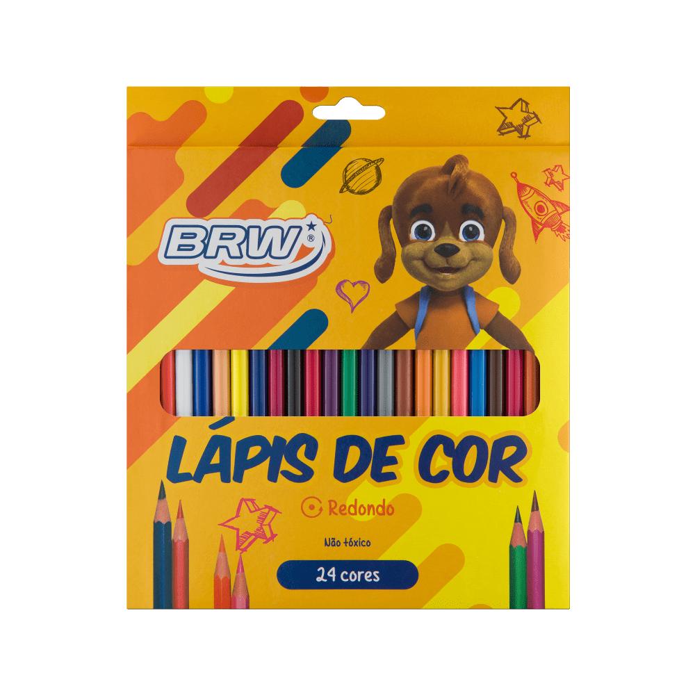 Lápis de Cor Redondo 24 Cores BRW
