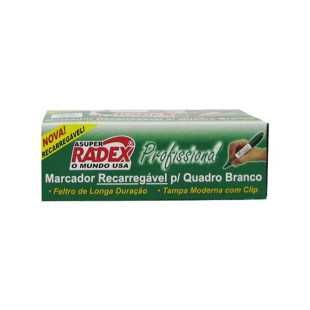 Marcador para Quadro Branco Recarregável Profissional Verde Radex