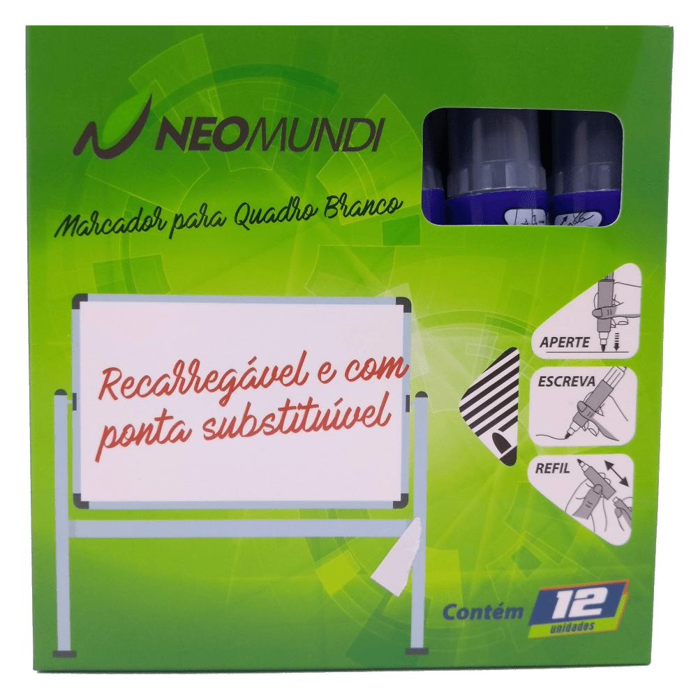 Marcador para Quadro Branco Recarregável Lilás 12 Unidades NeoMundi