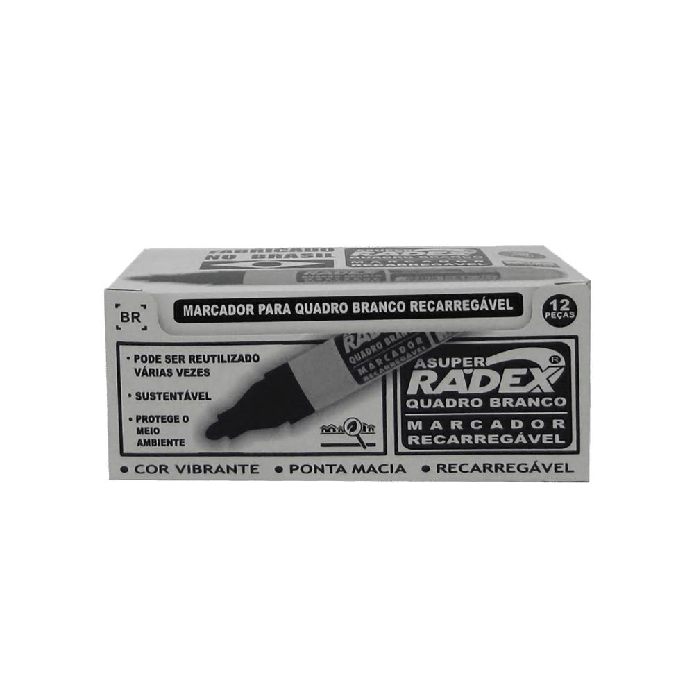 Marcador para Quadro Branco Recarregável Asuper Preto Radex