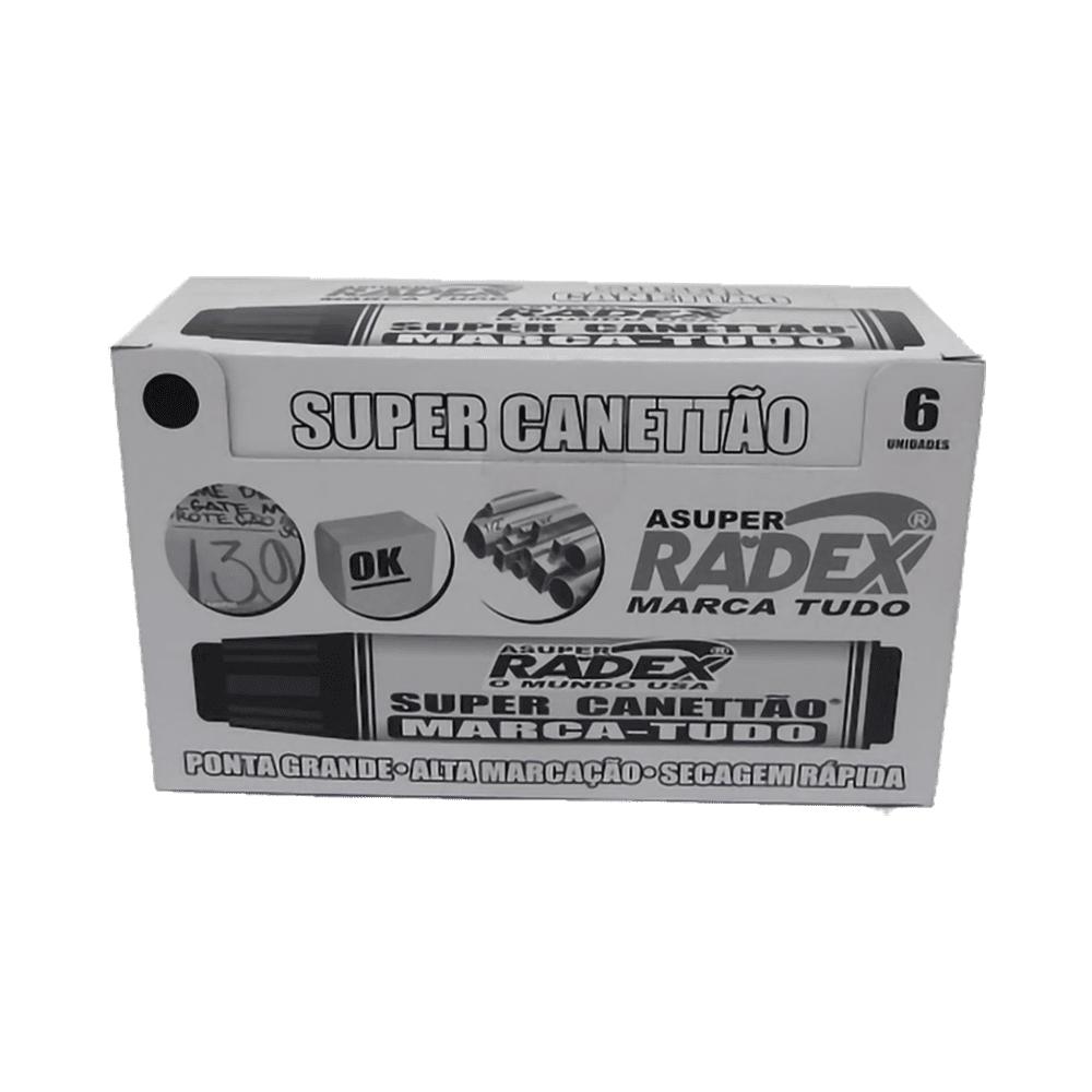 Marcador Permanente Preto Super Canettão Radex