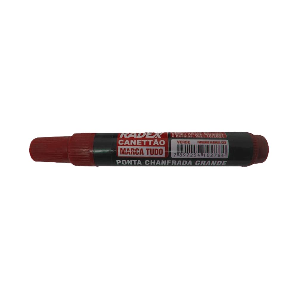 Marcador Permanente Vermelho 12 Unidades Canettão Radex