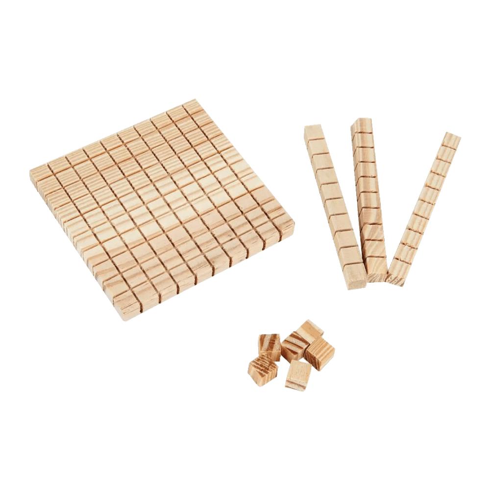 Material Dourado Individual de Madeira 111 Peças Carlu Brinquedos