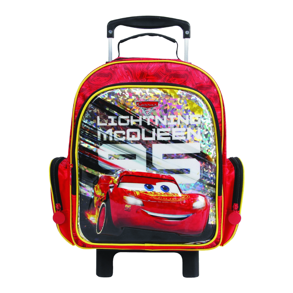 Mochila Escolar Média com Rodas McQueen Carros Dermiwil