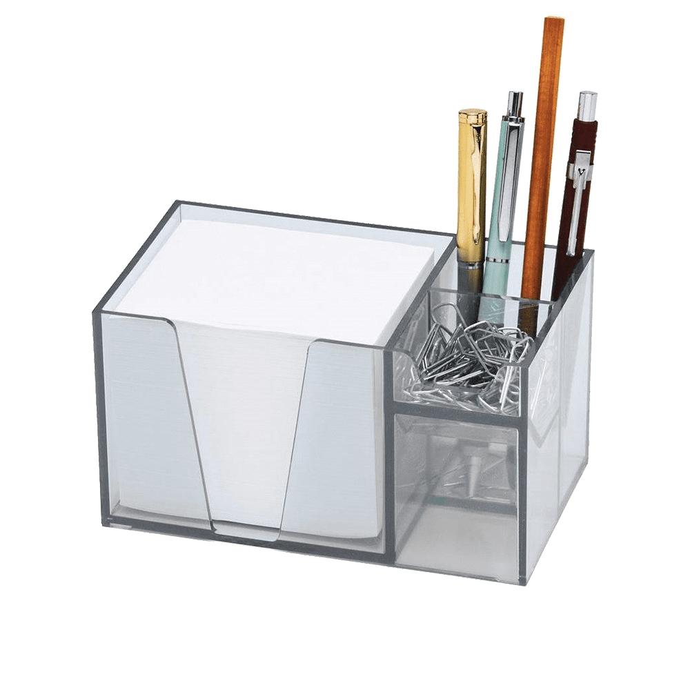 Organizador De Mesa Com Papel Lembrete Cristal Acrimet