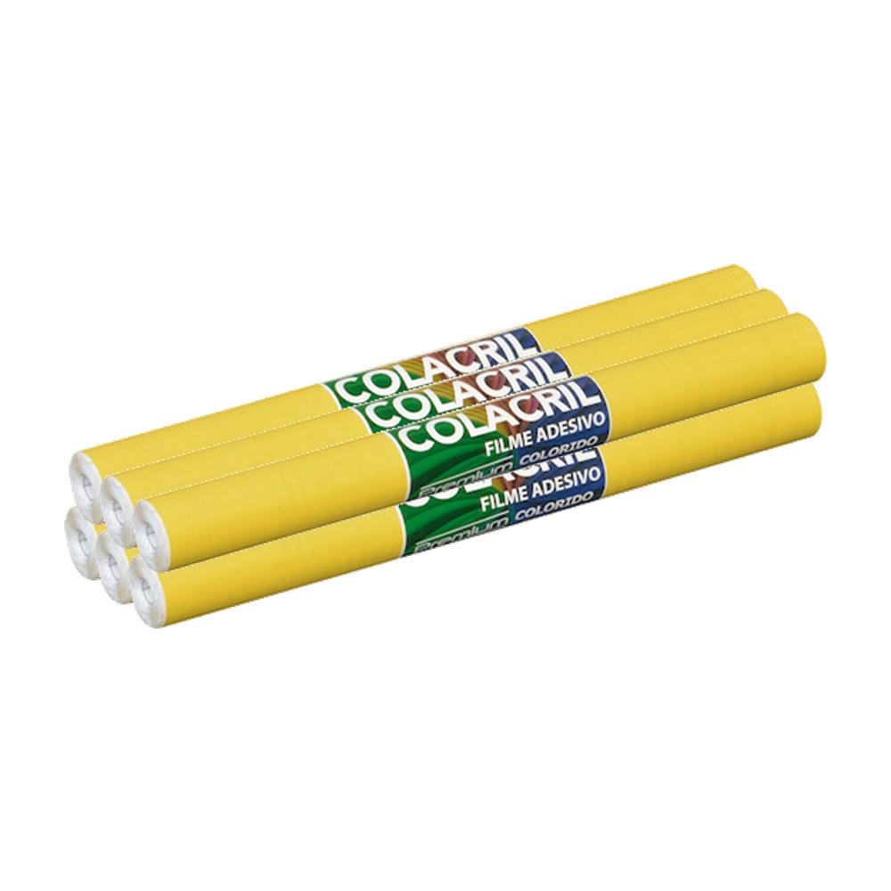 Papel Contact Amarelo 45cm x 10m 6 Unidades Colacril
