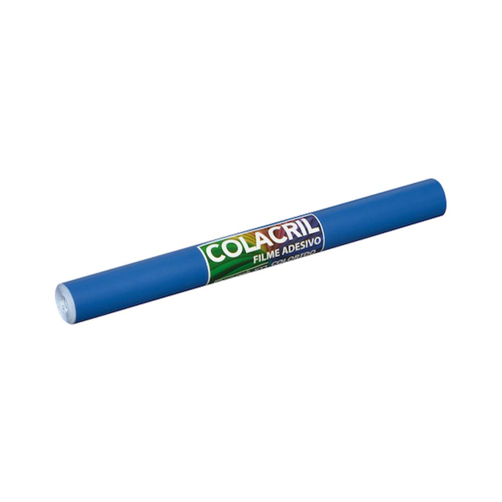 Papel Contact Azul Escuro 45cm x 10m Colacril