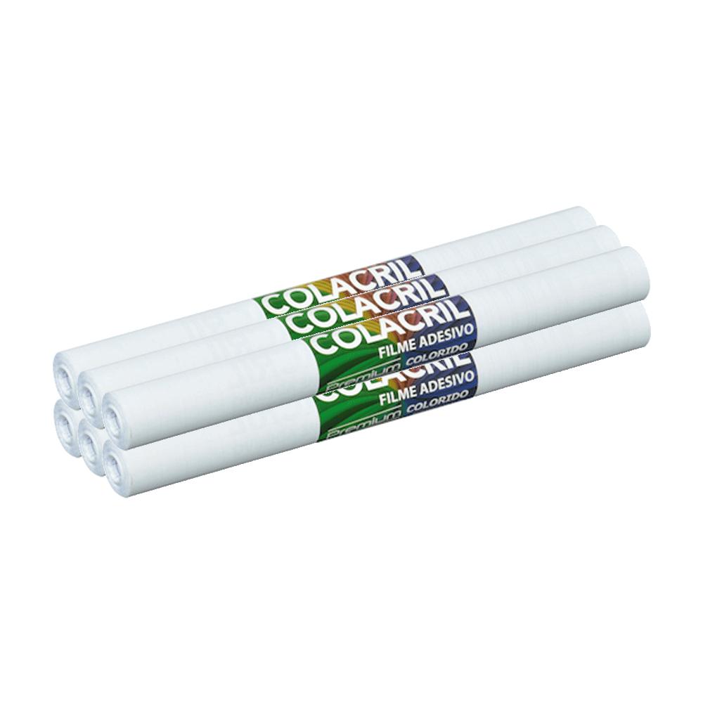 Papel Contact Branco 45cm x 10m 6 Unidades Colacril
