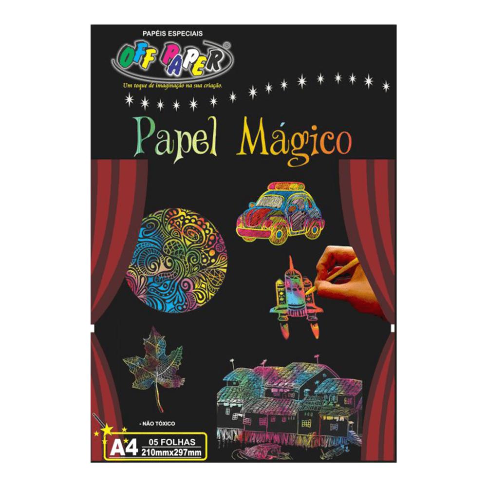Papel Mágico A4 Multicolor 5 Folhas com Bastão Off Paper