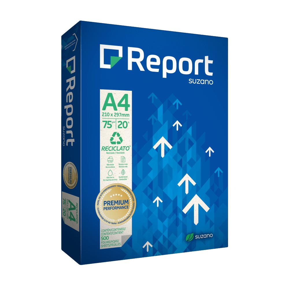 Papel Reciclado A4 75g 500 Folhas Reciclato Report