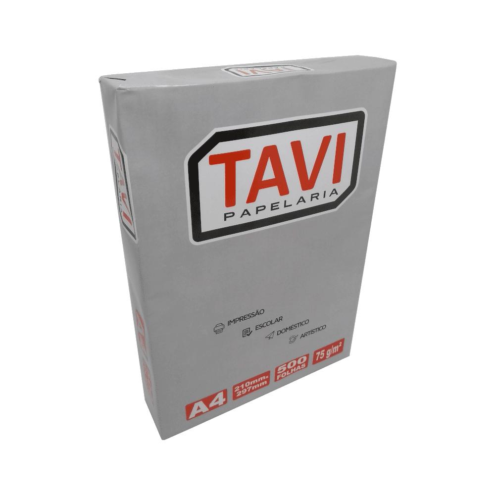 Papel Sulfite A4 Branco 75g 500 folhas Tavi