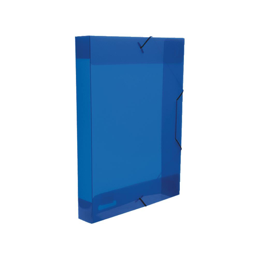 Pasta Aba Elástico Azul Ofício Lombo 5,5cm Top Line Dello
