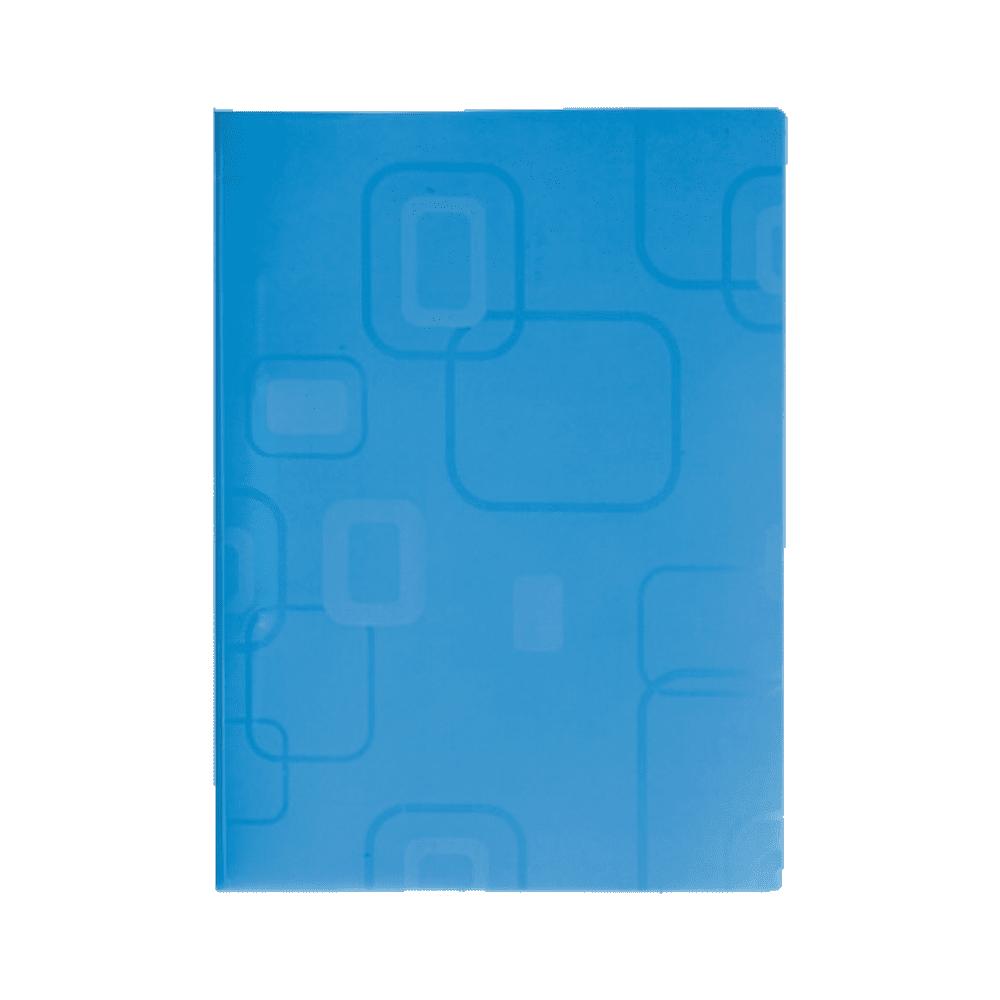 Pasta Dobrada com Grampo Plástico Azul DelloFine