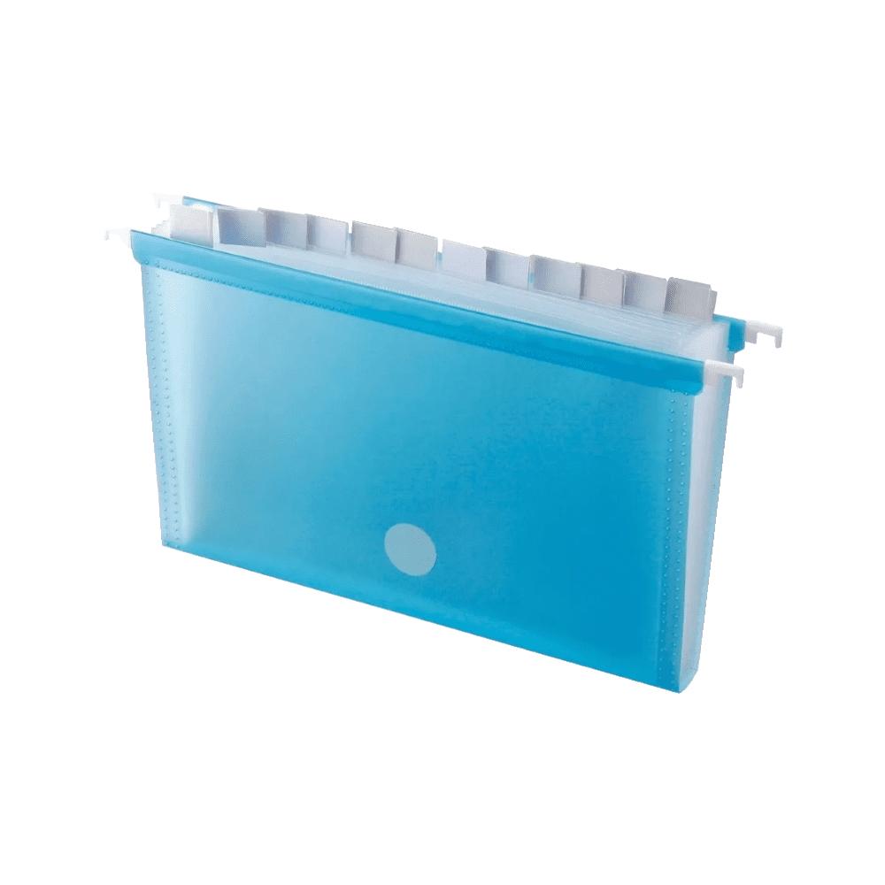 Pasta Suspensa Azul com 12 Divisórias DelloPlast