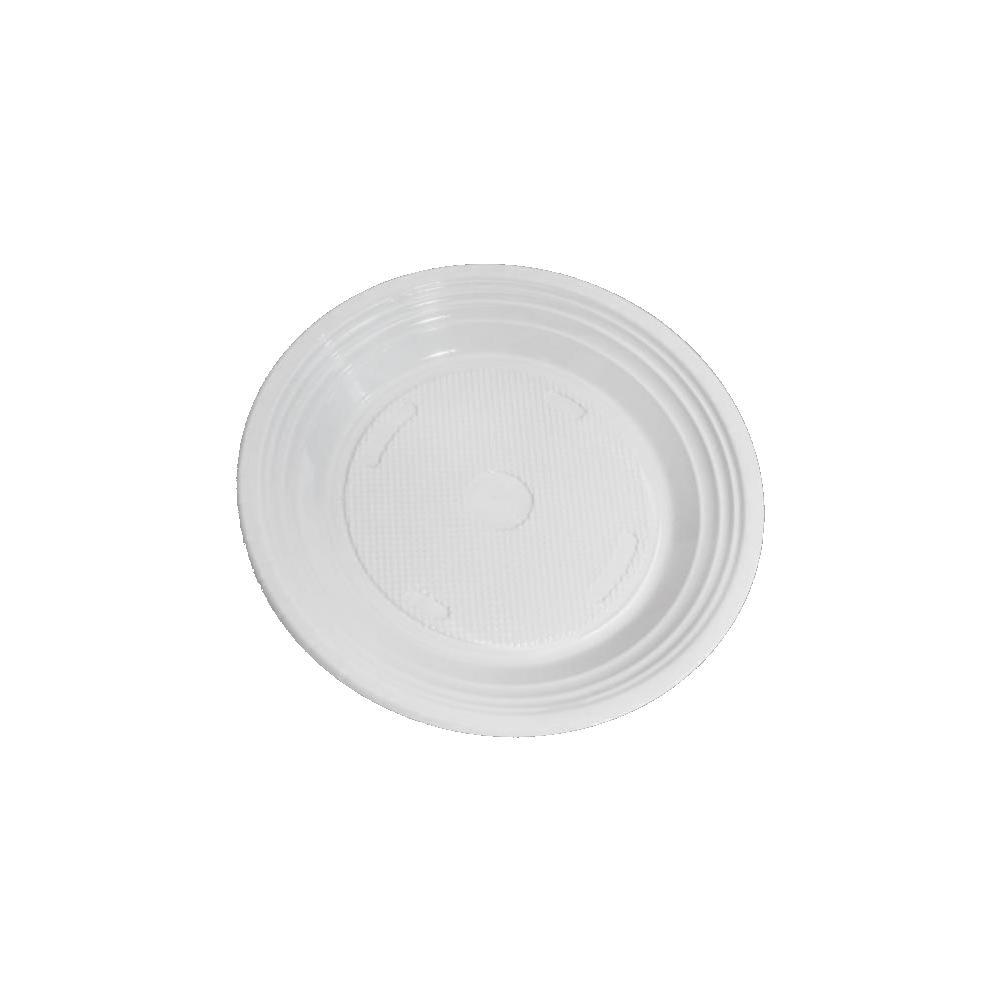 100 Pacotes Prato Descartável PS 210mm Branco 10 Unidades Copozan
