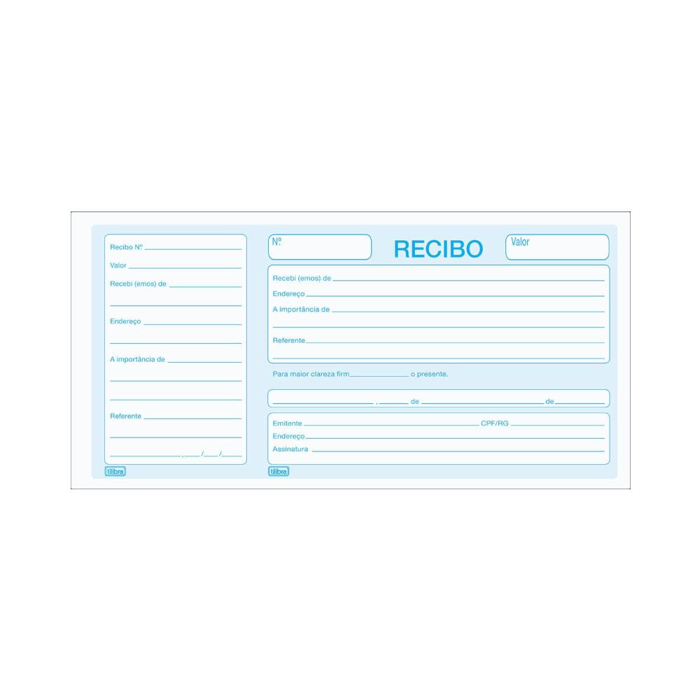 Recibo Comercial Com Canhoto - 100 Folhas Tilibra