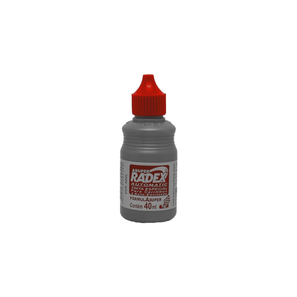 Tinta para Carimbo Autotintado 40ml Vermelha 12 Unidades Radex