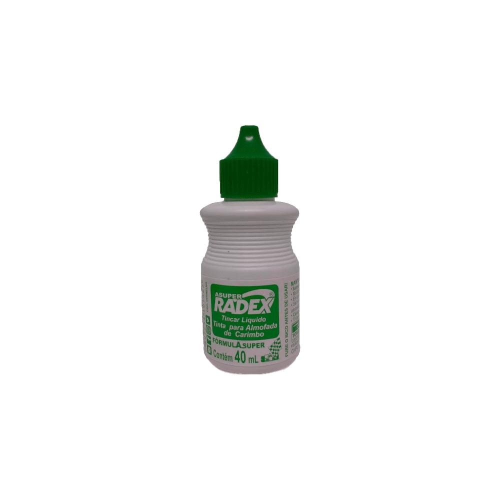 Tinta para Carimbo 40ml Verde 12 Unidades Radex