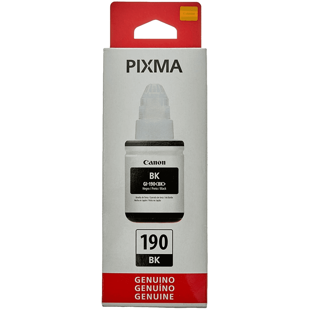 Refil de Tinta 190BK Preto 135ml Canon