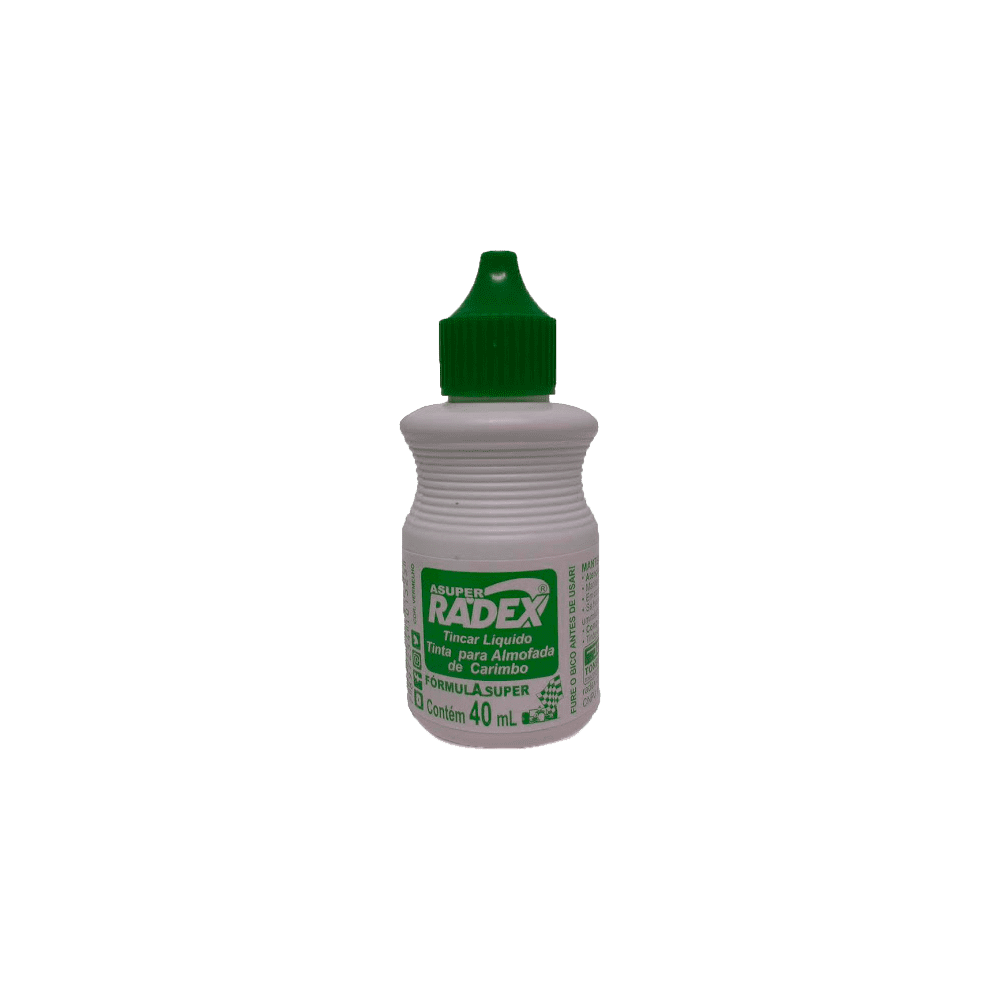 Tinta para Carimbo Asuper 40ml Verde Radex