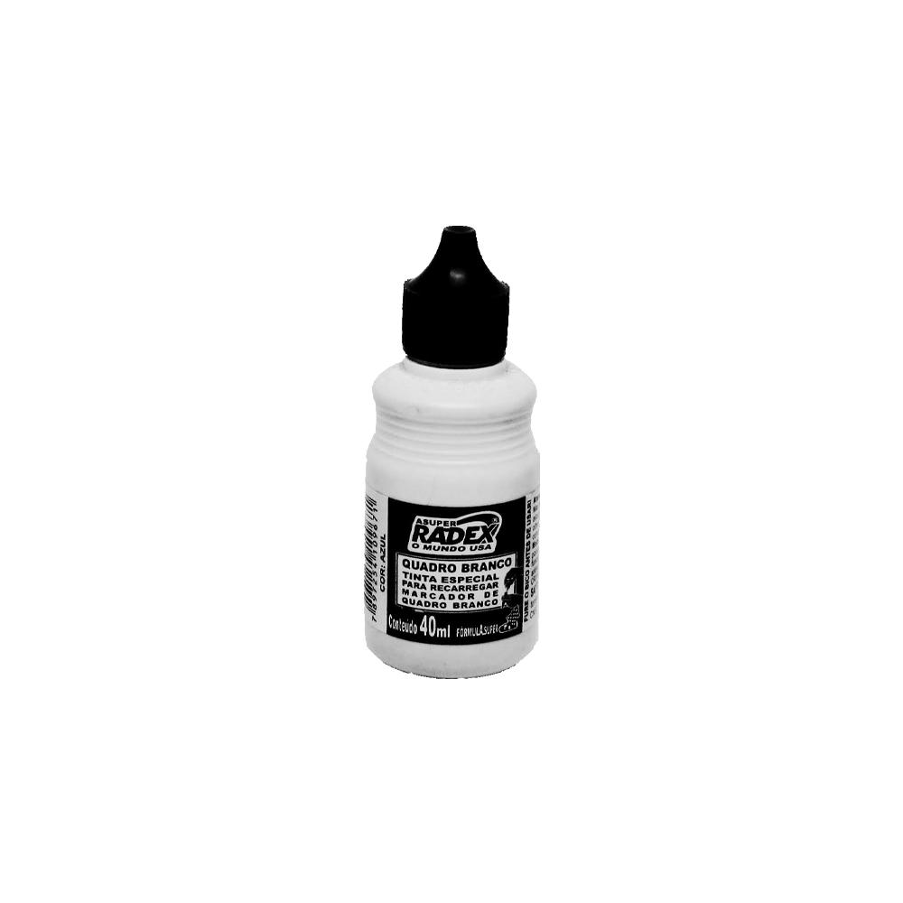 Refil p/ Marcador para Quadro Branco 40ml Preto Radex