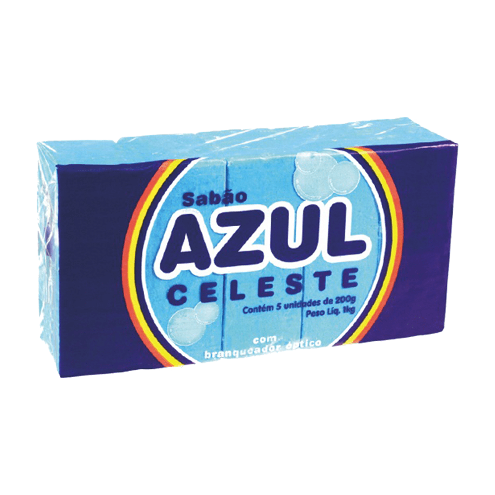 Sabão em Pedra 200g Azul Celeste 5 Unidades Gota Limpa