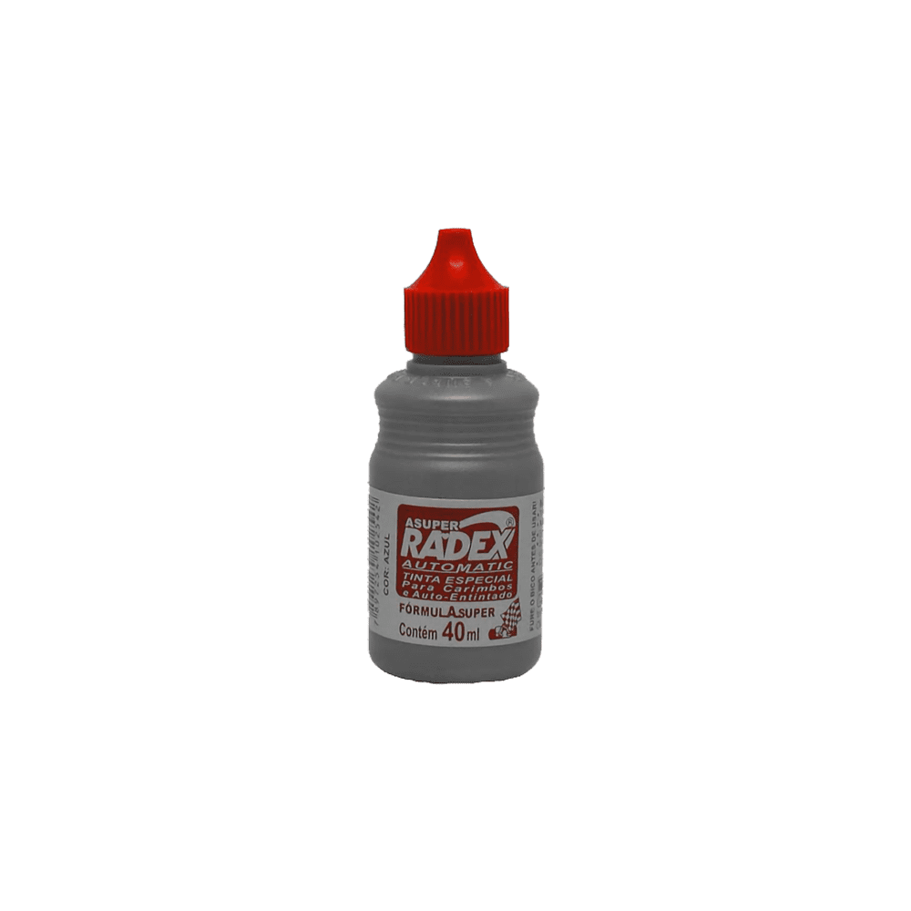 Tinta para Carimbo Autotintado 40ml Vermelha Radex