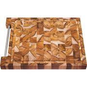 Tábua para Churrasco Tramontina Retangular em Madeira Invertida Teca com Acabamento Envernizado 48 x 36 cm 10102/050 | Lojas Estrela