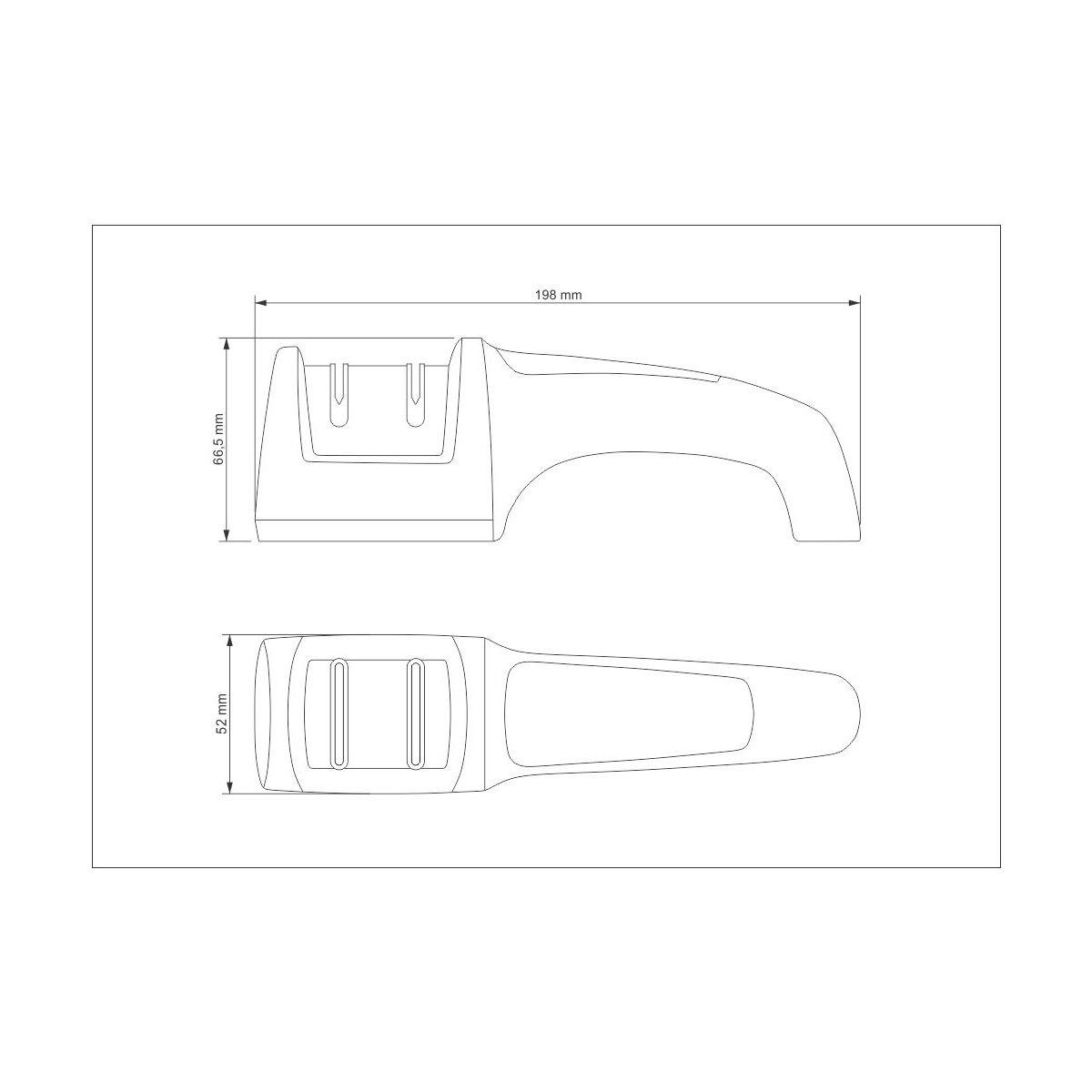 Afiador de Facas Tramontina Diamantado com Suporte em ABS e Aço Inox 24031/000 | Lojas Estrela