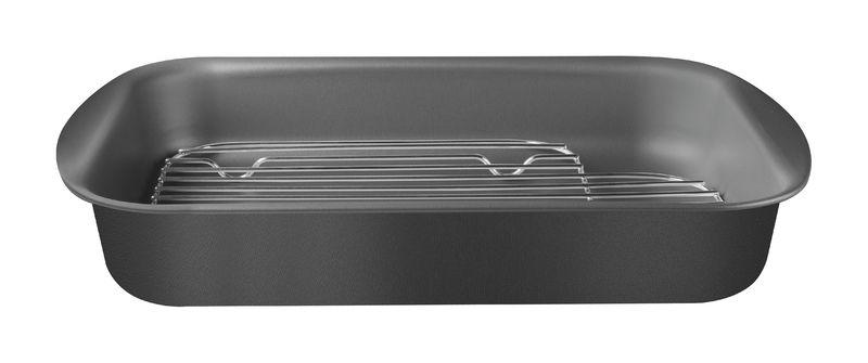 Assadeira com grelha de alumínio com revestimento interno antiaderente 34cm 20048/034 | Lojas Estrela