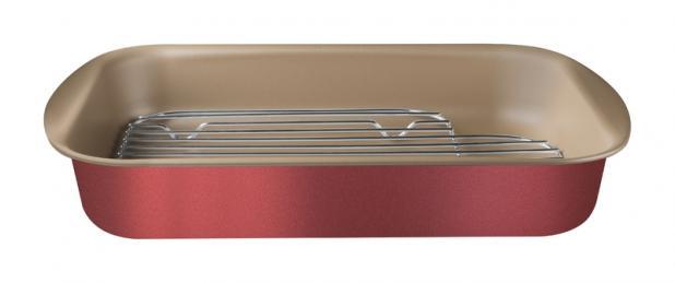 Assadeira com grelha de alumínio com revestimento interno antiaderente 34cm 20048/734 | Lojas Estrela